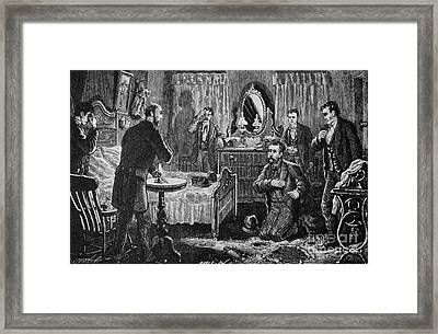 Mcparlan Initiated Into The Molly Framed Print by Photo Researchers