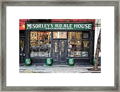 Mcsorley's Old Ale House Framed Print by Craig Gordon