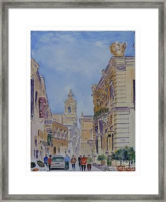 Mdina Malta Framed Print by Godwin Cassar