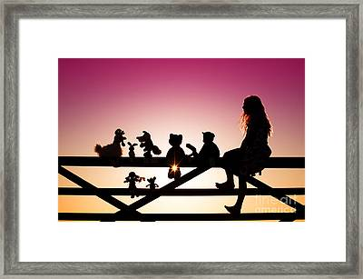 Me And My Friends Framed Print by Tim Gainey
