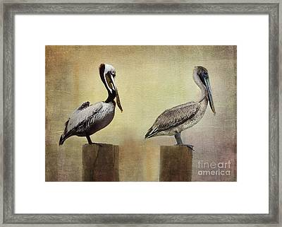 Me And My Missus Framed Print by Betty LaRue