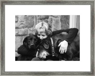 Me And My Pals Framed Print by Guy Whiteley