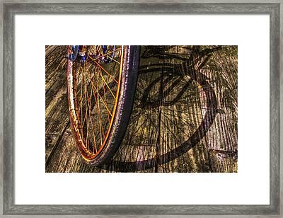 Me And My Shadow Framed Print by Debra and Dave Vanderlaan