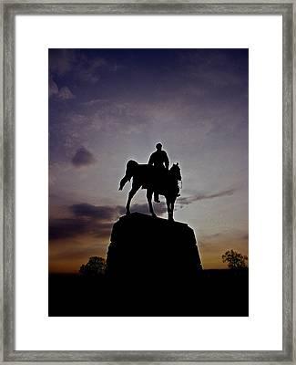 Meades Sunset Framed Print by Skip Willits