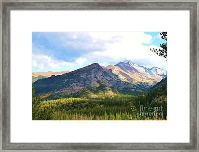 Meadow And Mountains Framed Print by Kathleen Struckle