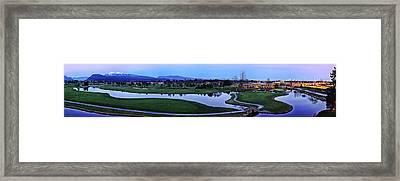 Meadow Gardens Golf Club Framed Print by Wesley Allen Shaw