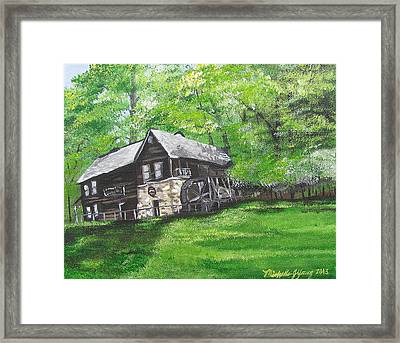 Meadow Run Mill Framed Print by Michelle Young