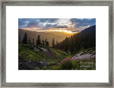 Meadows Dusk Horizons Framed Print by Mike Reid