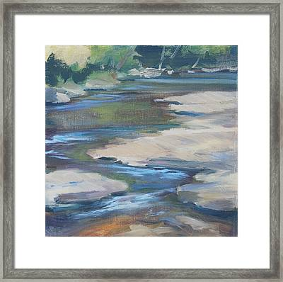 Meandering Through Time Framed Print by Carol  DeMumbrum