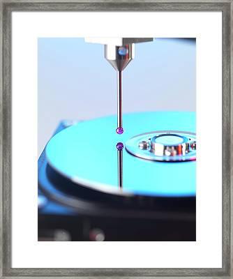 Measurement Probe Framed Print by Tek Image