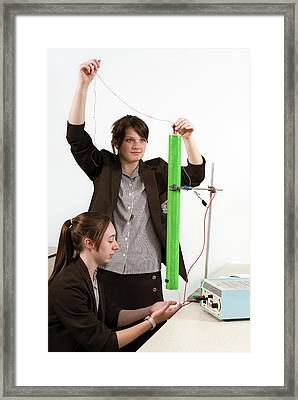 Measuring Electromagnetic Induction Framed Print by Trevor Clifford Photography