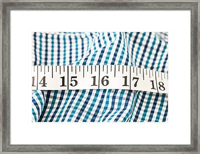 Measuring Tape Framed Print by Tom Gowanlock