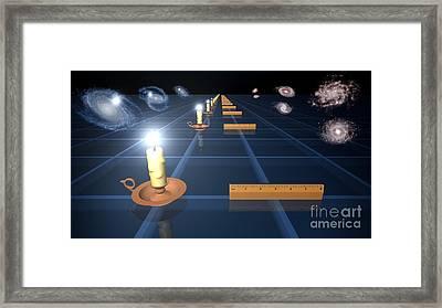 Measuring The Expanding Universe, Artwork Framed Print by Nasa