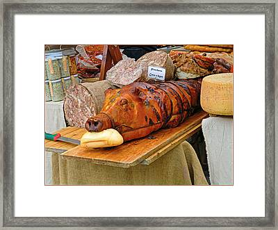 Meat Market Framed Print by Mindy Newman