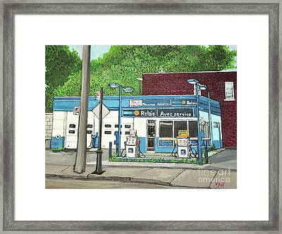 Mecanique Amical Inc. Pointe St. Charles Framed Print by Reb Frost