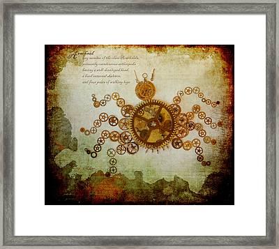Mechanical - Arachnid Framed Print by Fran Riley