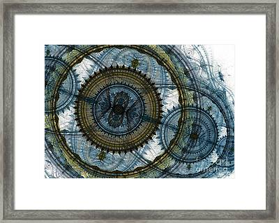 Mechanical Circles Framed Print by Martin Capek