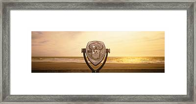 Mechanical Viewer, Pacific Ocean Framed Print by Panoramic Images