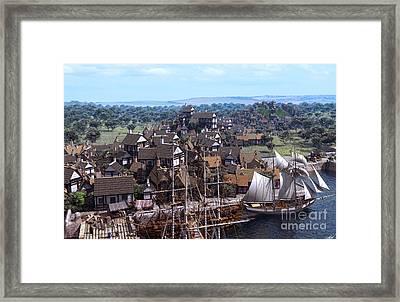 Med Village Framed Print by Dominic Davison