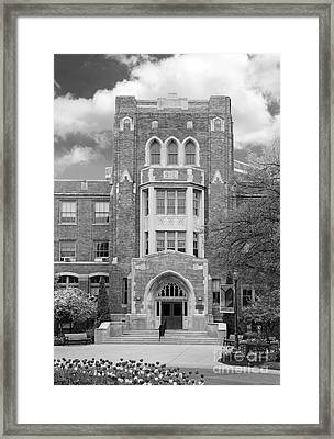 Medaille College Main Building Framed Print by University Icons