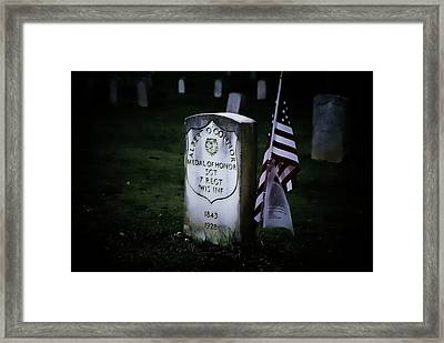 Medal Of Honor Framed Print by Ron Roberts