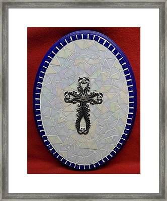 Medallion With Cross Framed Print by Fabiola Rodriguez