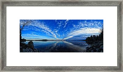 Meddybemps Blues Panorama Framed Print by Bill Caldwell -        ABeautifulSky Photography