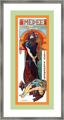 Medee Framed Print by Alphonse Maria Mucha