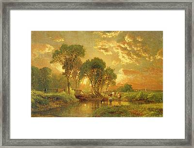 Medfield Massachusetts Framed Print by Inness