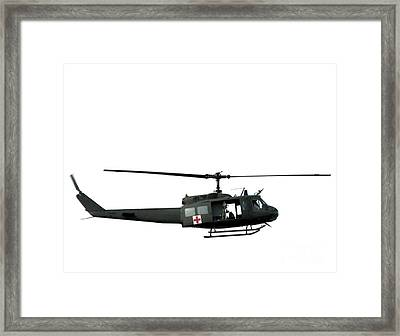 Medic Helicopter Framed Print by Olivier Le Queinec