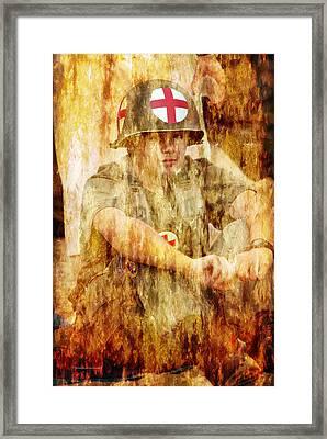 Medic Ww II Us Army Framed Print by Thomas Woolworth