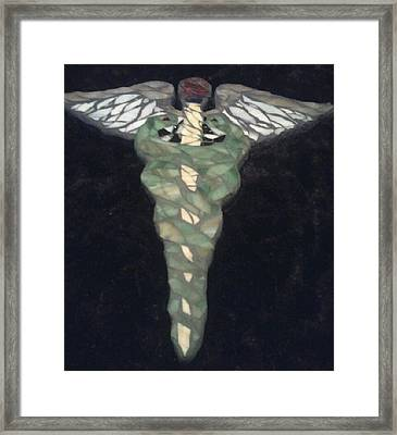 Medical Caduceus  Framed Print by Lisa Collinsworth