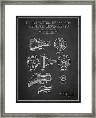 Medical Instrument Patent From 1964 - Dark Framed Print by Aged Pixel