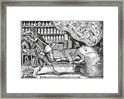 Medical Purging, Satirical Artwork Framed Print by Spl
