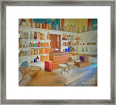 Medicine And Its Cures  Framed Print by L Wright