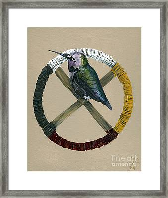 Medicine Wheel Framed Print by J W Baker