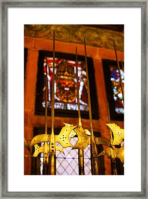 Medieval Armory, Chateau Du Framed Print by Panoramic Images
