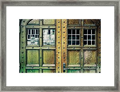 Medieval Doors Framed Print by Colleen Kammerer
