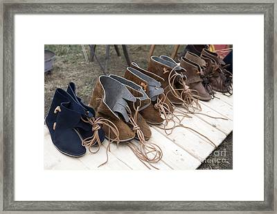 Medieval Fashion Shoes Framed Print by Ladi  Kirn