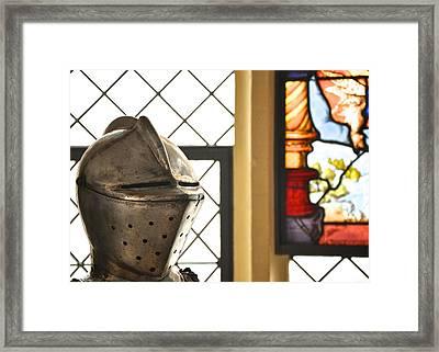 Medieval Helmet Framed Print by Matt MacMillan