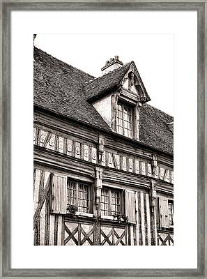 Medieval House Framed Print by Olivier Le Queinec