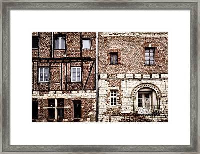 Medieval Houses In Albi France Framed Print by Elena Elisseeva