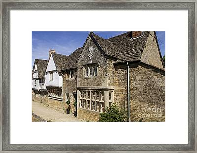 Medieval Houses In Lacock Village Framed Print by Patricia Hofmeester
