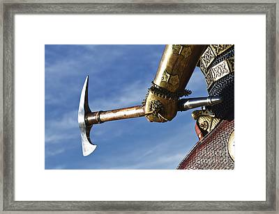 Medieval Knight And Axe Framed Print by Holly Martin