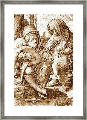 Medieval Musicians 1524 Framed Print by Padre Art