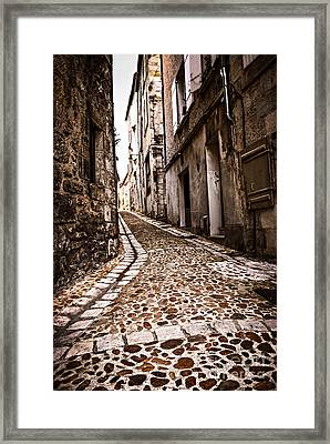 Medieval Street In France Framed Print by Elena Elisseeva