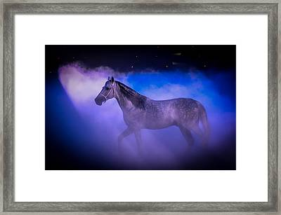 Medieval Times Tournament Horse Framed Print by Gene Sherrill