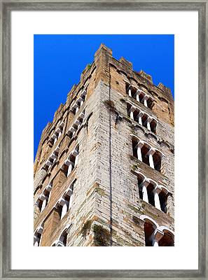 Medieval Tower Framed Print by Valentino Visentini