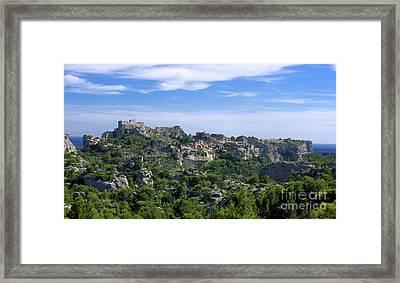 Medieval Village Of Les Baux De-provence. Alpilles. France Framed Print by Bernard Jaubert