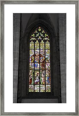 Medieval Vitraux. Framed Print by Fernando Barozza